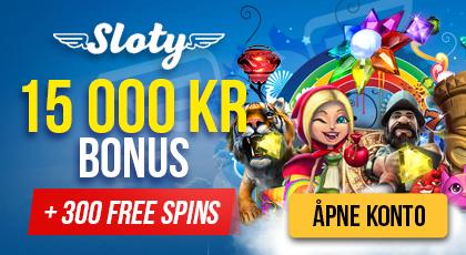 Sloty Casino innskuddsbonus
